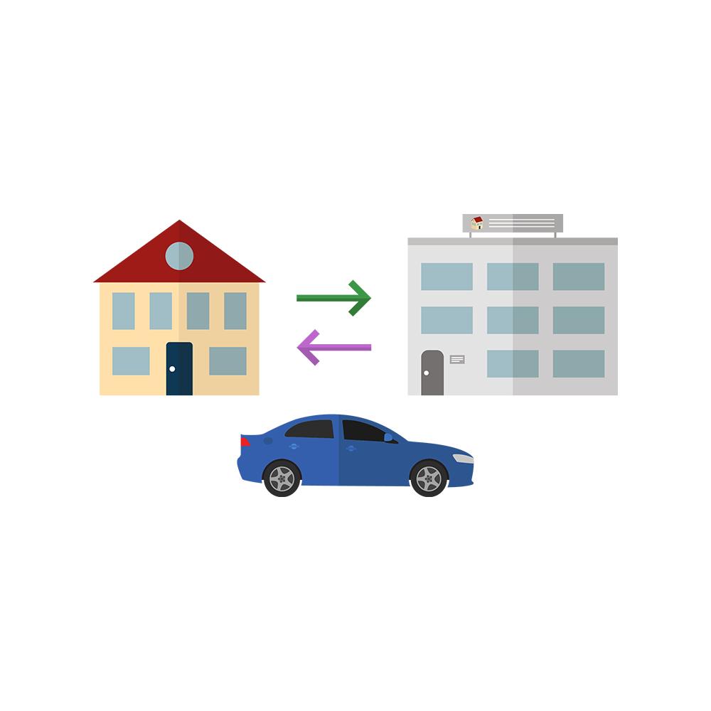 reiskostenvergoeding, benzinekosten berekenen, locatie, wonen in de regio